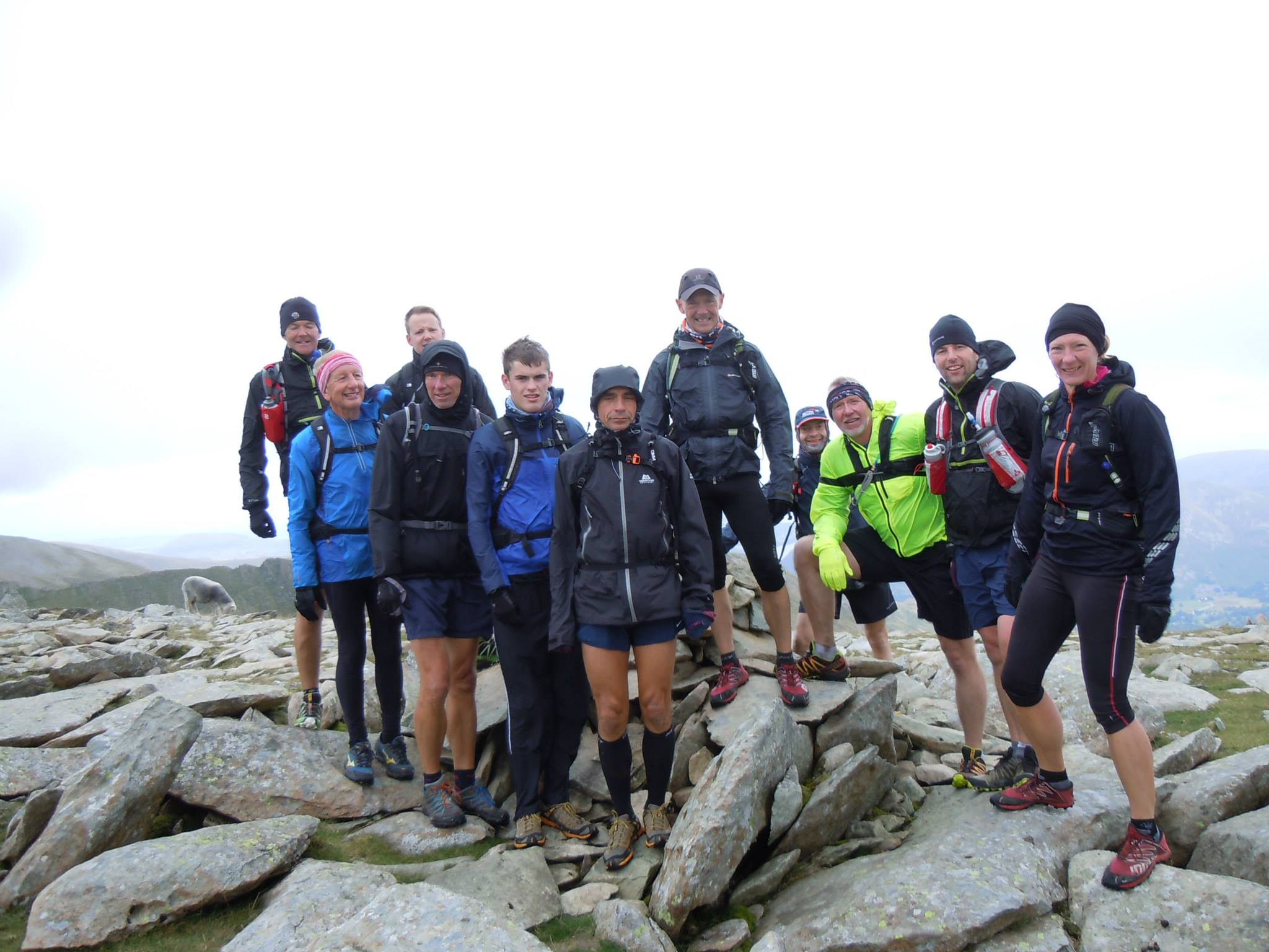A Club Outing to The Lakes - On Nethermost Pike, Helvellyn Range