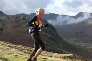 Helen Price on the Langdale Horseshoe