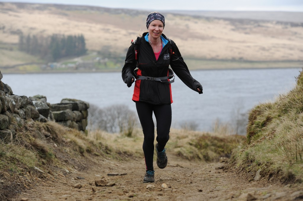 Ros Moore still smiling at the Haworth Hobble! (Courtesy of SportSunday Event Photography)