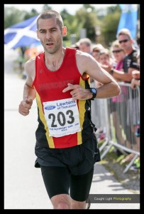 Andy Grant leads at the Wetherby 10K ....