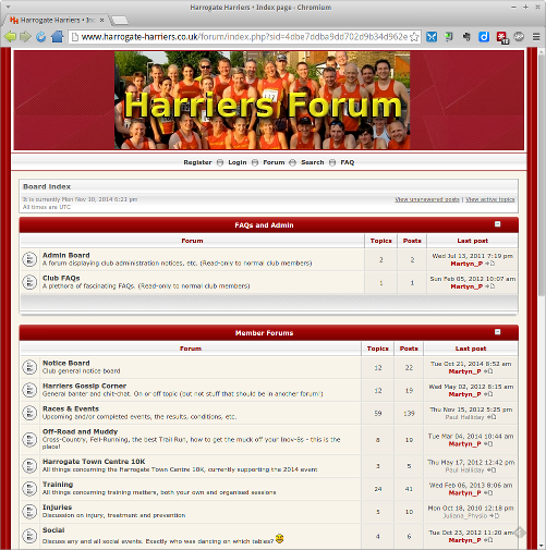 Old Harriers Forum - now retired