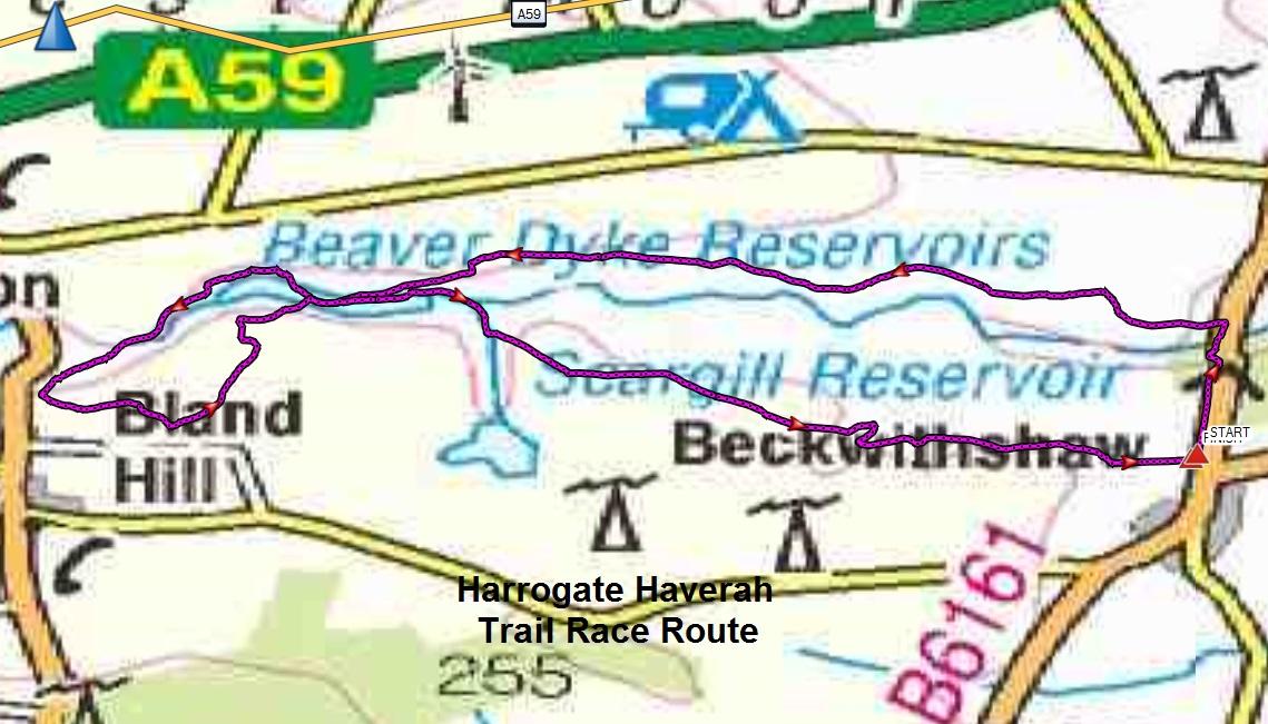 Harrogate England Map.Harrogate Haverah Trail Race
